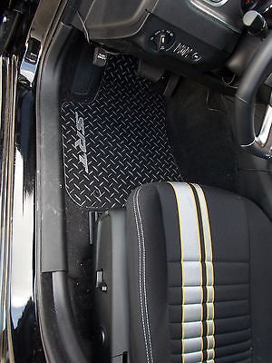 Charger  SRT  INLAY  Floor mats.  Black with exposed METAL diamond plate  5 pc