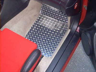 Celica  93-98  Aluminum diamond plate floor mats,  front set, polished finish