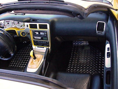 Toyota MR2 92-97 Polished diamond plate aluminum floor mats