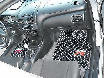 Nissan Sentra SER 00-06 Black diamond aluminum diamond plate floor mats front rear