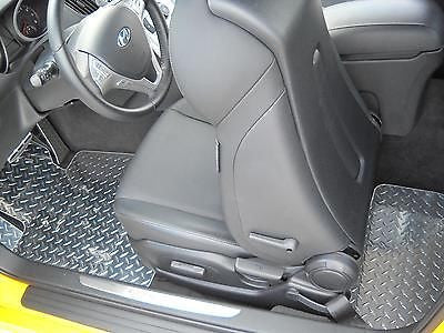 Hyundai Genesis Coupe Polished Metal floor mats front rear Real diamond plate
