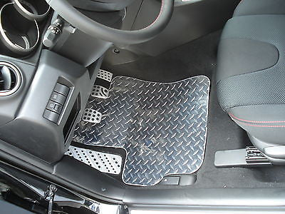 Mazda 3 & Speed 3  03-08 Diamond plate aluminum floor mats Polished finish