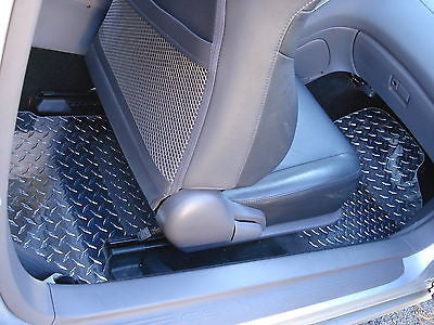 Celica 99-05  Aluminum diamond plate floor mats.  front and rear   Real METAL