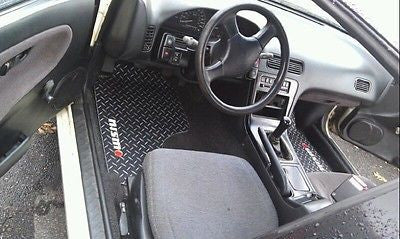 Nissan 240 SX  240SX 89-98 Black METAL diamond floor mats Solid aluminum