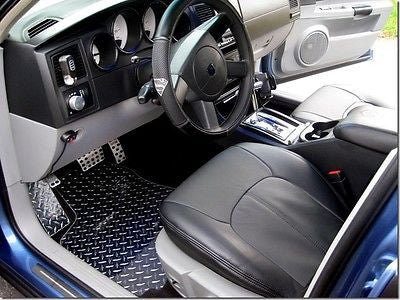 Charger Magnum 05-10  aluminum floor mats. Diamond plate METAL.  Polished finish front rear