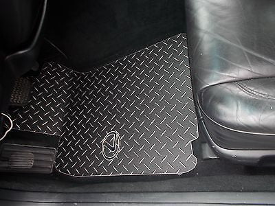 Custom Designs; Lexus Emblem Inlayed GS Floor Mats. BLACK Metal Diamond  Plate.