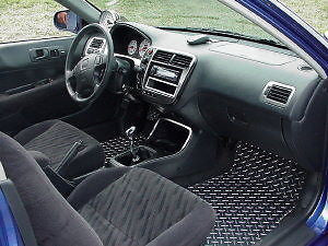 Civic 96-00 aluminum floor mats. Real METAL custom fit FRONT, rear & foot pc