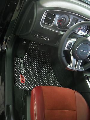 Charger  SRT-8  INLAY  Floor mats.  Chrome diamond plate  METAL 5pc
