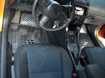 tC 04-10  Aluminum diamond plate floor mats Custom designed fit. Chrome polished
