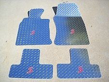 Mini Cooper S (R53) 02-06 Polished diamond plate floor mats Front rear