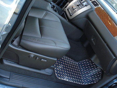 Avalanche 07-13   diamond plate METAL floor mats.  Custom shaped front + rears