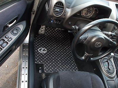 IS 300, sport cross 98-05  Black Metal diamond floor mats.  Real aluminum diamond plate