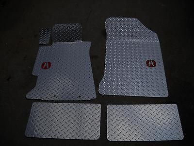 Acura RSX 2002-2005   Metal floor mats.  Shaped from diamond plate aluminum