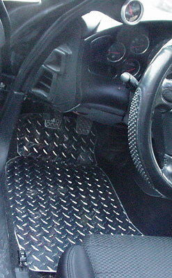 Mazda RX7 93-99 diamond plate floor mats Polished or Black powder coated. Real aluminum