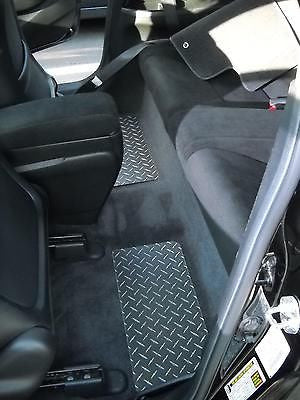 Civic SI 06-11 Coupe  aluminum floor mats.  Black with exposed Metal diamonds  Front back set