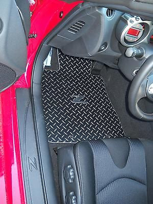 Nissan 370Z 09-18 Black METAL diamond mats solid aluminum