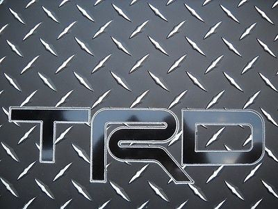Celica  TRD inlay  Floor mats  BLACK &  exposed METAL/silver diamond  F + rear