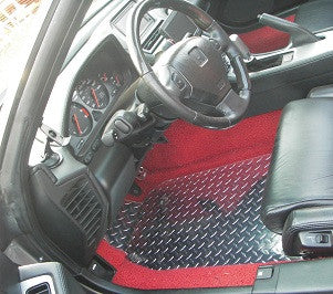 Acura NSX  Aluminum floor mats.  Bare metal polished finish