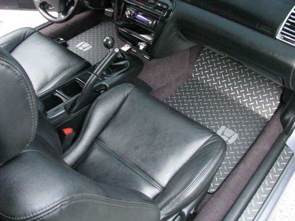 Honda Prelude 92-01 Black powder coated diamond plate floor mats