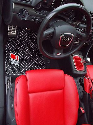 Audi A4 B6 B7  02-08 | Metal floor mats shaped from diamond plate aluminum front rear