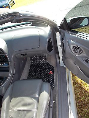 Mitsubishi Eclipse 95-99 aluminum floor mats front rear.  Solid Metal diamond plate