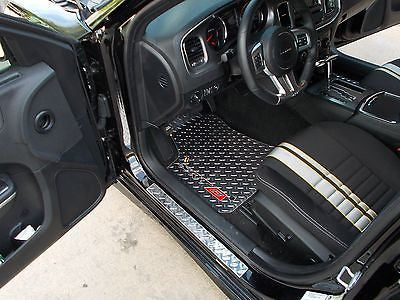 Charger 11-20  SRT-8 aluminum diamond plate floor mats.  Polished finish