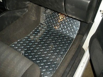 Subaru Impreza 92-01 polished Metal floor mats