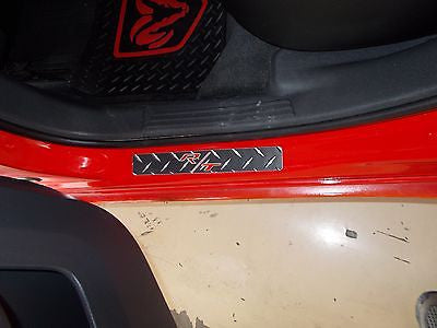 Charger, Magnum R/T 05-10   Black metal diamond plate door sills  L & R side set