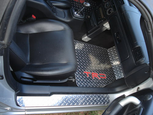 Toyota MR2 Spyder 99-07 TRD  Polished diamond plate aluminum floor mats