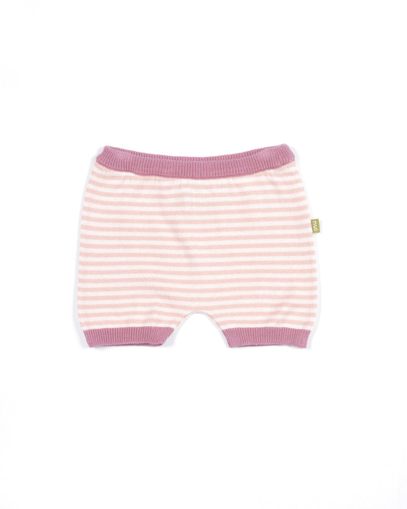 nui organic cotton knit bloomers pink stripe