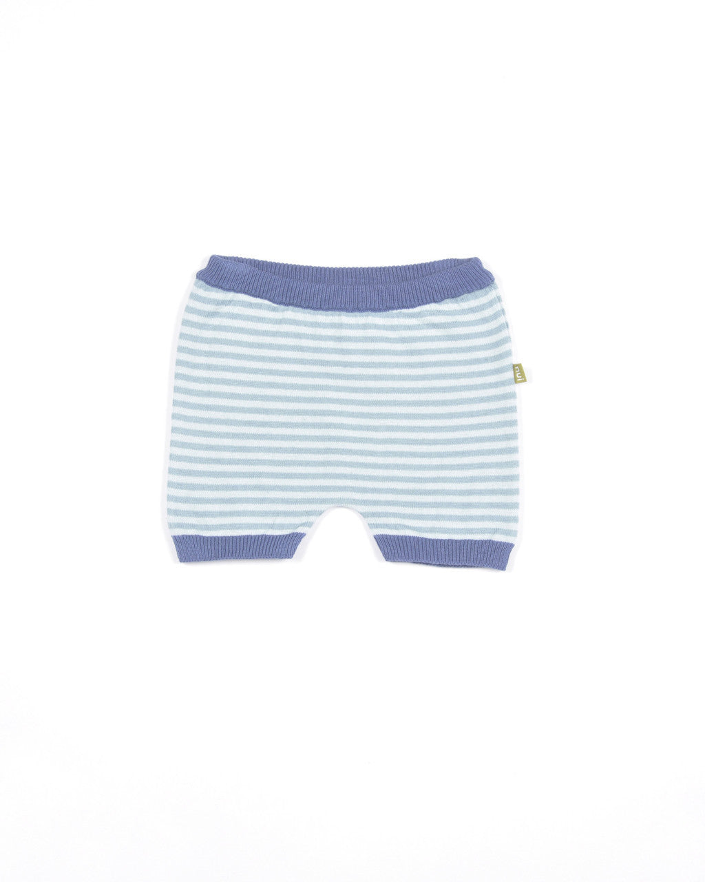 nui organic cotton betty bloomer shown in teal stripe