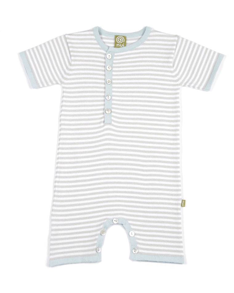 Billy Romper Silver Stripe