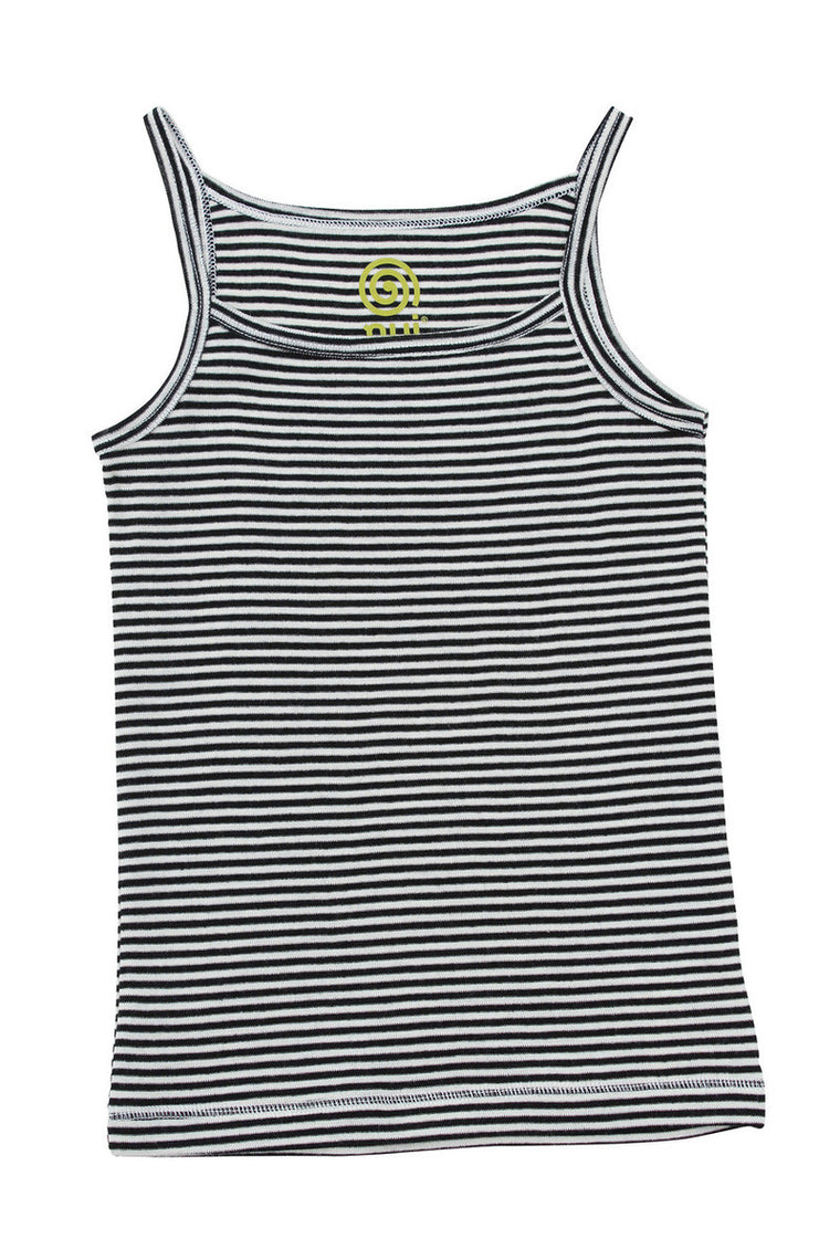 Merino Thermal Camisole B+W Stripe