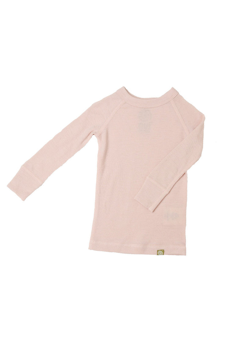 Merino Thermal Crew Pink Solid