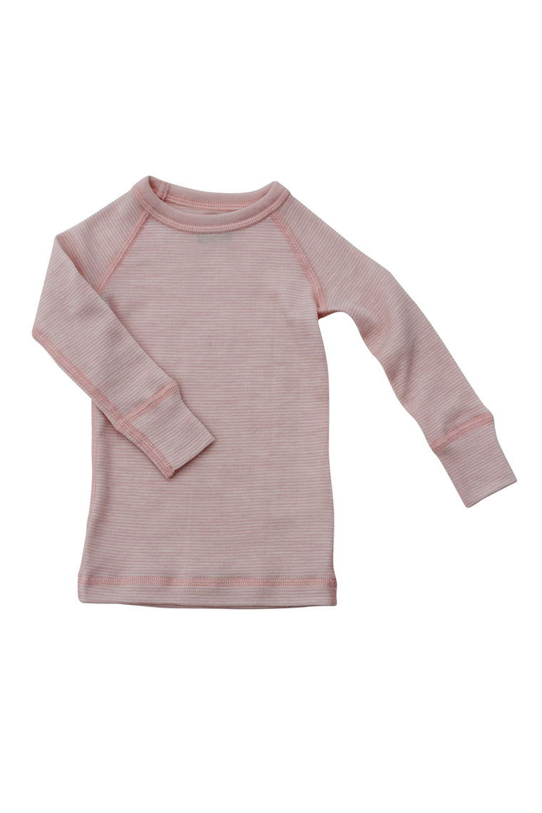 Merino Thermal Crew Pink Stripe