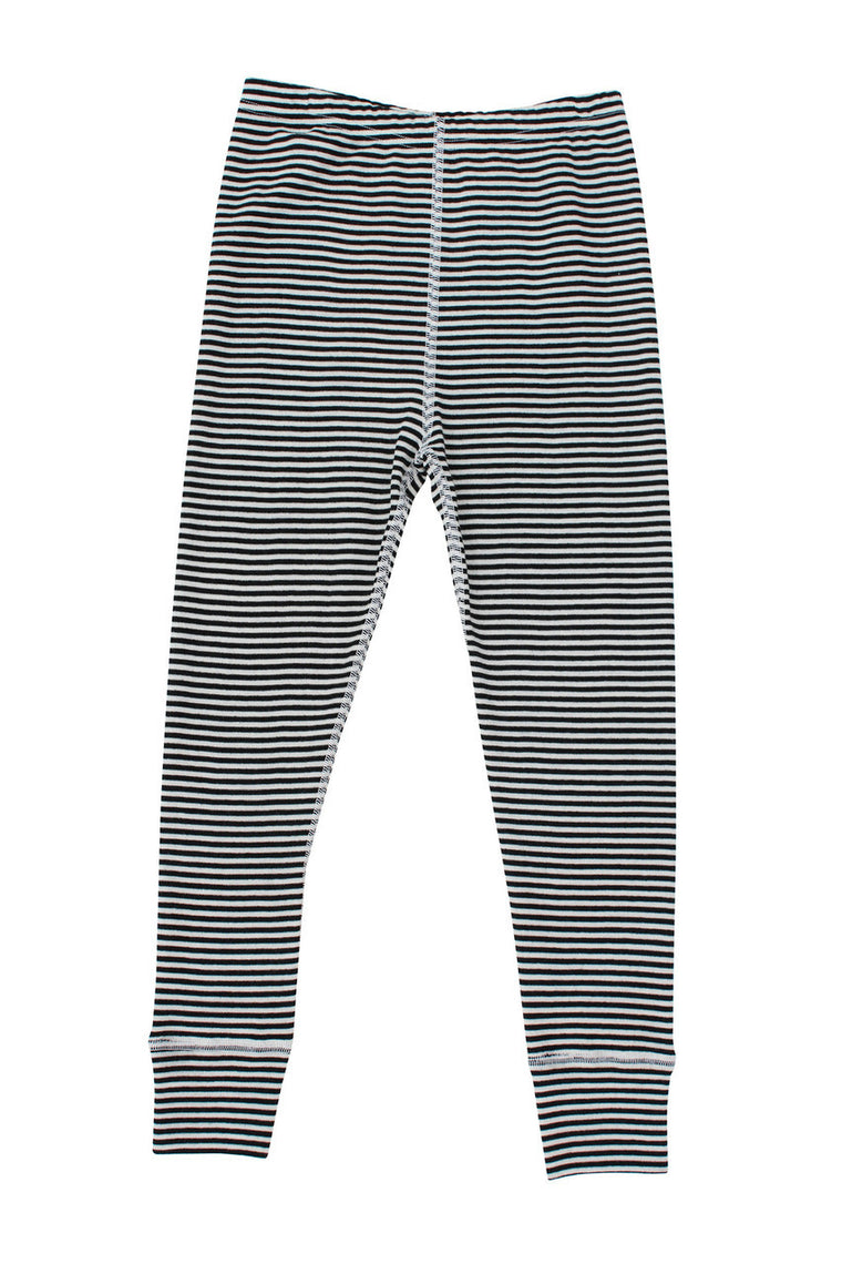 Merino Thermal Leggings B+W Stripe