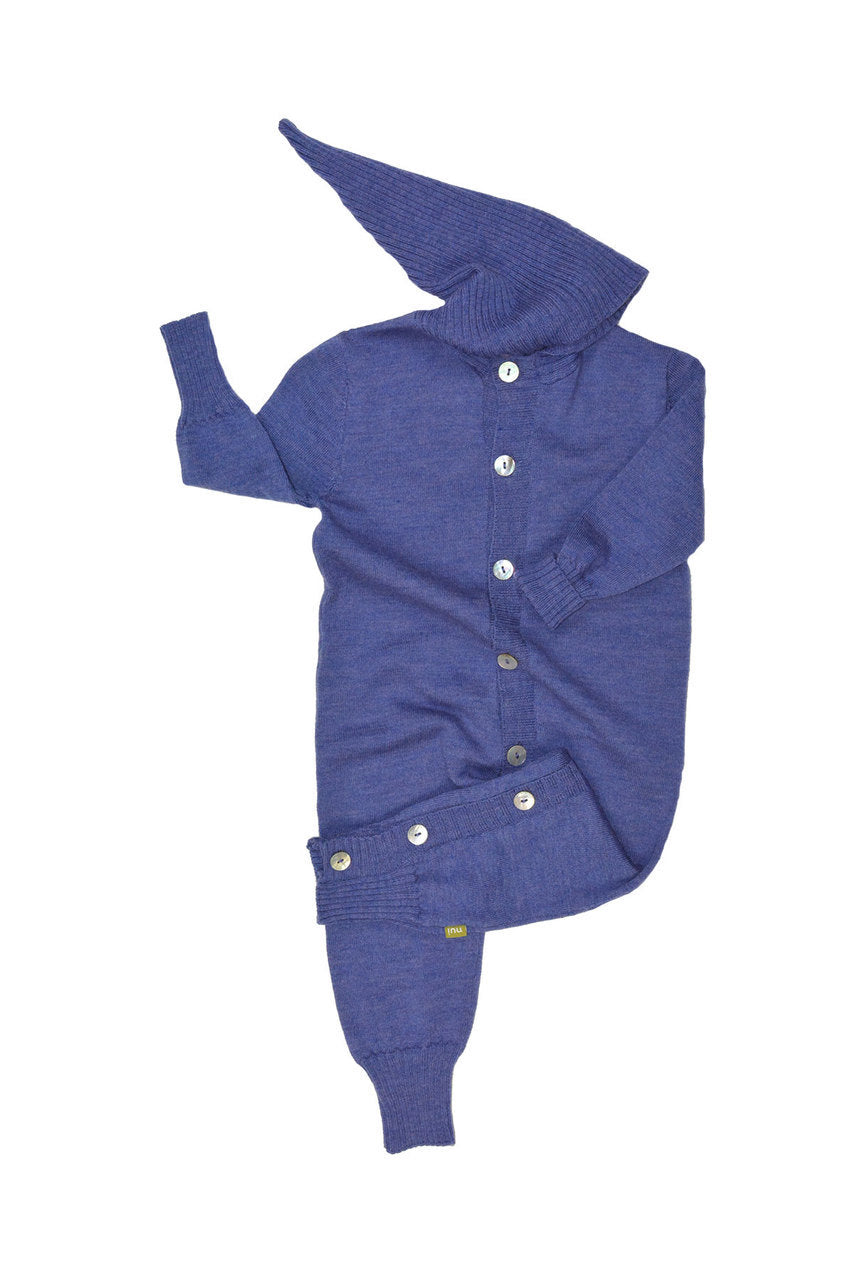 Milo Hooded Romper Purple
