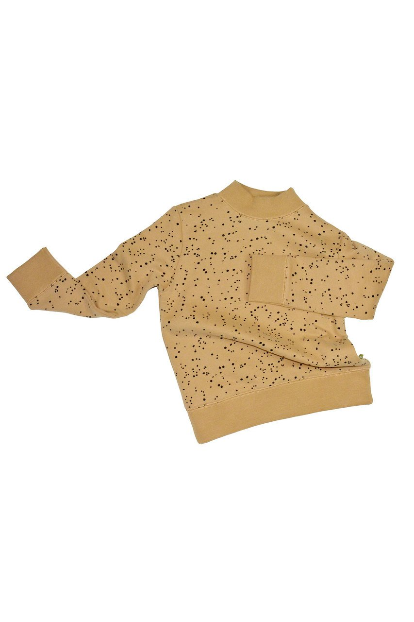 nui organic cotton fleece kura top toffee
