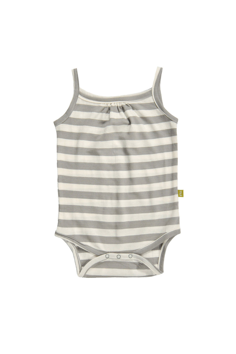 Camisole Bodysuit-Grey Stripe