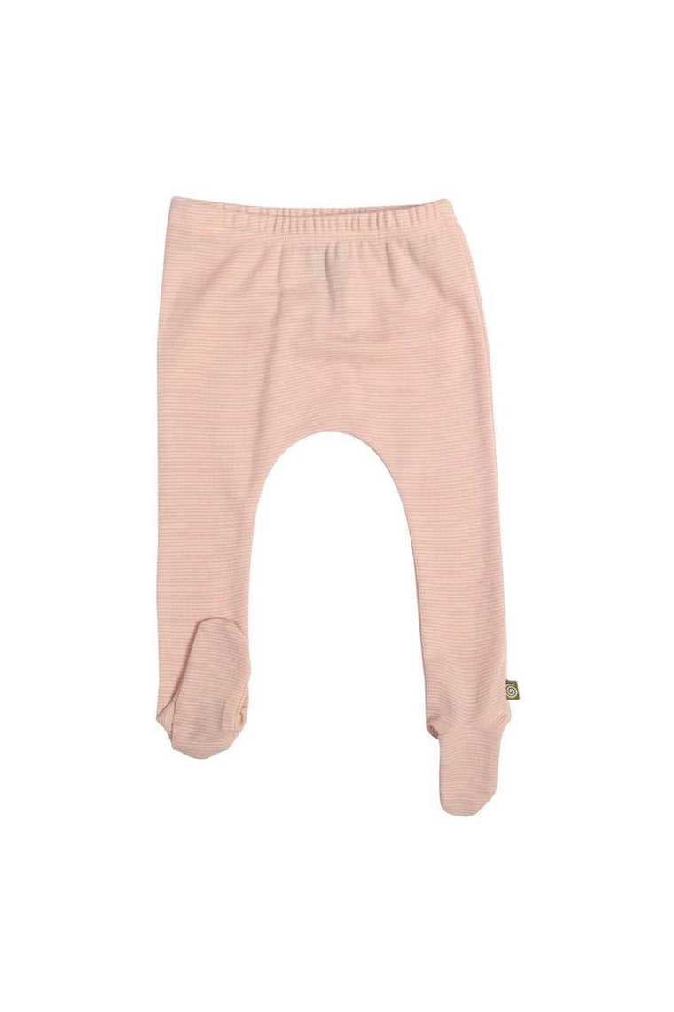 Merino Thermal Footed Pants Pink Stripe