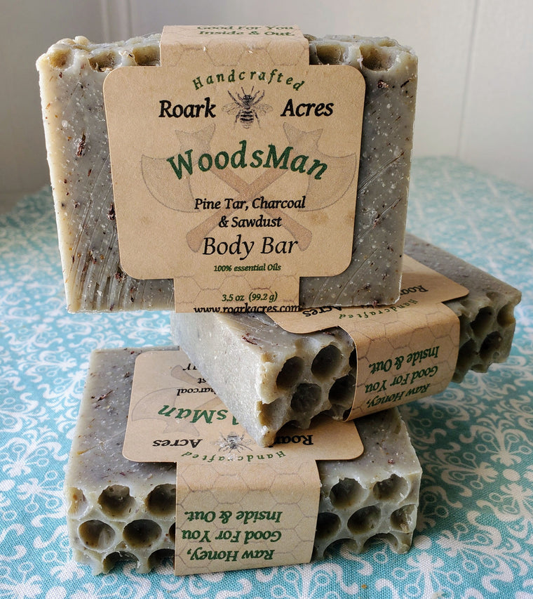 """Woodsman"" Honey Soap"