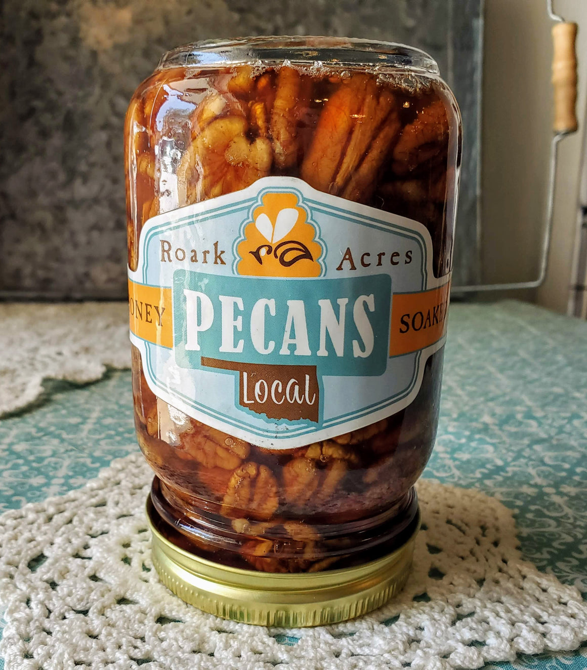 Honey Soaked Pecans