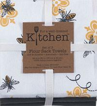 TOWEL -QUEEN BEE 3PC FLOUR SACK TOWEL SET