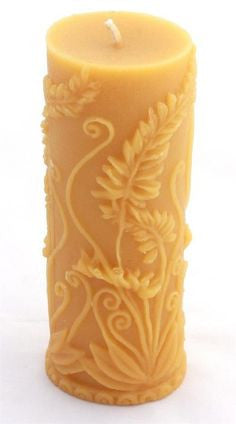 Beeswax Fern Candle