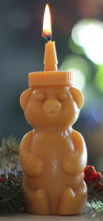 Beeswax HoneyBear Candle