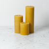 Beeswax Smooth Side Pillar Candle