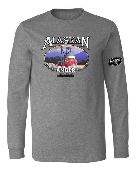 Amber Ale Cotton Blend LS Tee