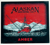 Alaskan Brewing Label Porcelain Coaster