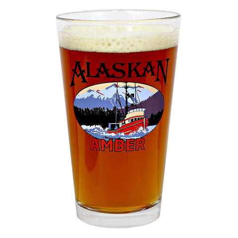 Alaskan Amber Ale Pint Glass