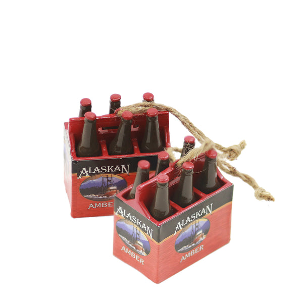 Alaskan Amber 6 Pack Ornament